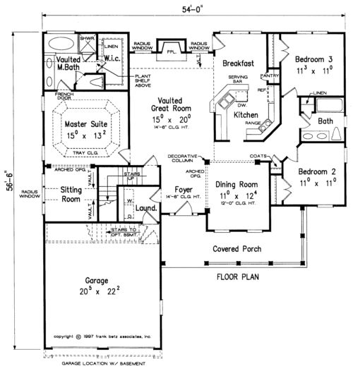 Christal Home Plans And House Plans By Frank Betz
