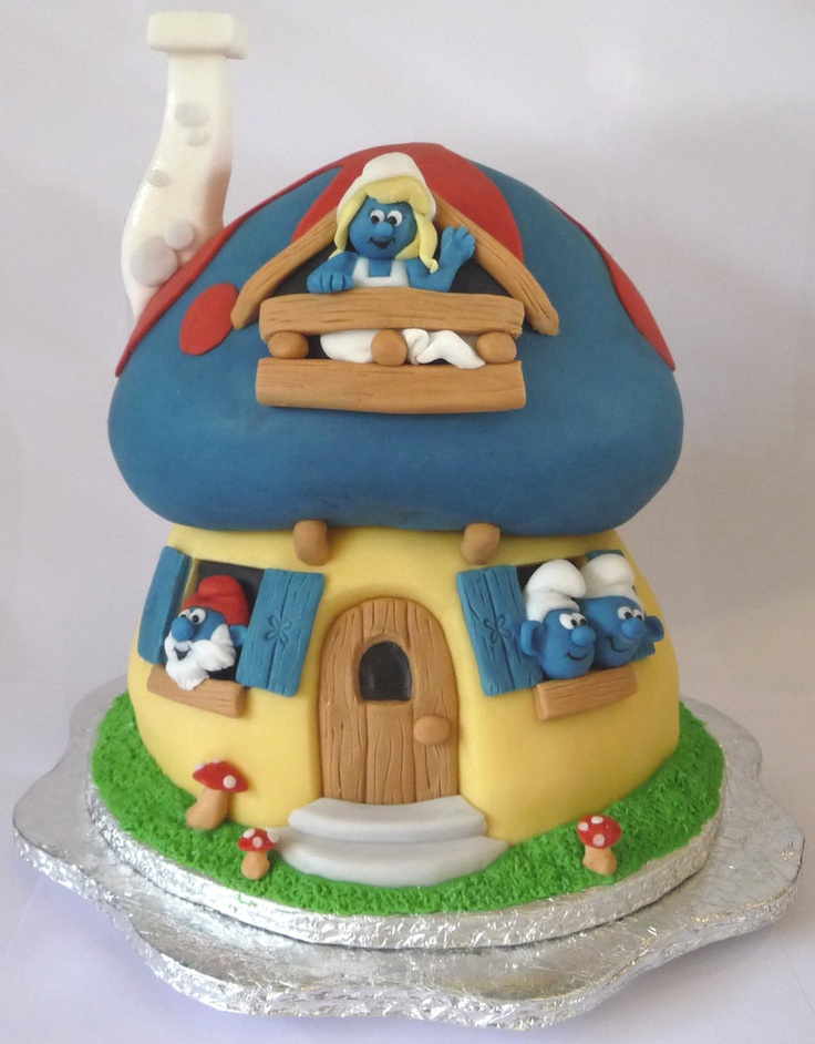 Smurfs....reminds me of my oldest daughter! She loved the Smurfs! I kinda like them too! Cute!