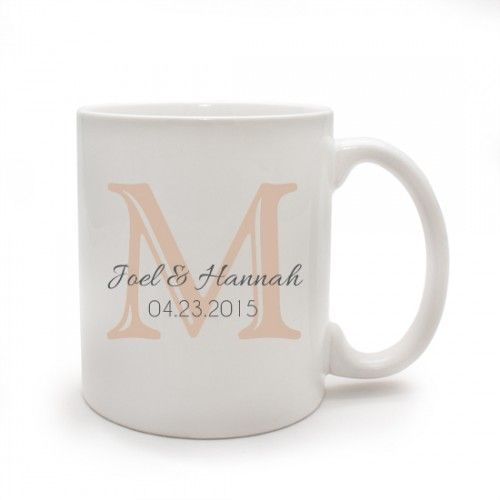 Personalized Wedding Favor Coffee Mugs : Personalized White Coffee MugThoughtful and Useful Wedding Favor ...