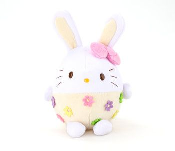 "Hello Kitty Bunny 6"" Plush: Yellow Easter Egg"