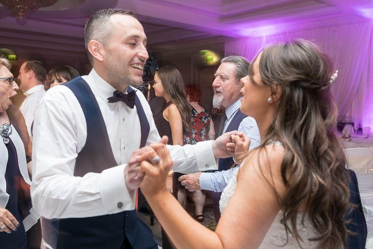 druids glen wedding photographer dancing couple first dance