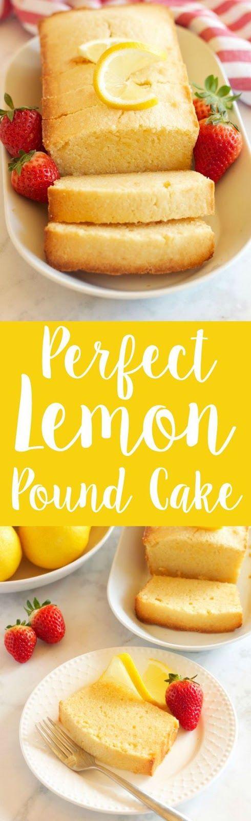 Perfect Lemon Pound Cake | Cake And Food Recipe