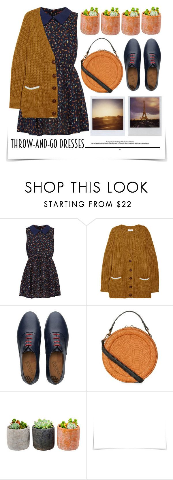 """Easy Outfitting: Throw-and -Go Dresses"" by emcf3548 ❤ liked on Polyvore featuring Dorothy Perkins, Sonia by Sonia Rykiel, FitFlop, New Look, Shop Succulents, Timex and easydresses"