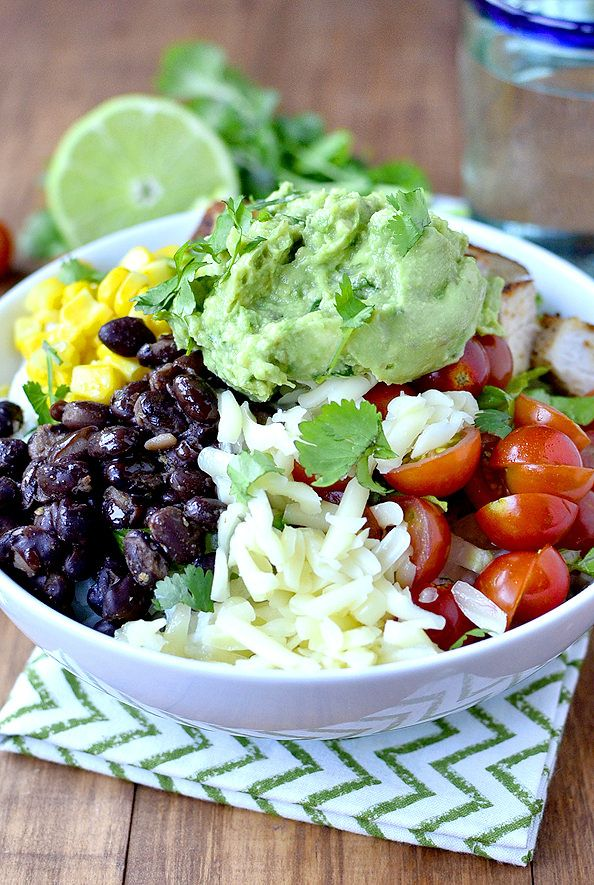 Easy Homemade Burrito Bowls are a simplified, homemade version of Chipotle's Burrito Bowls. Fresh and fabulous! #glutenfree | iowagirleats.com