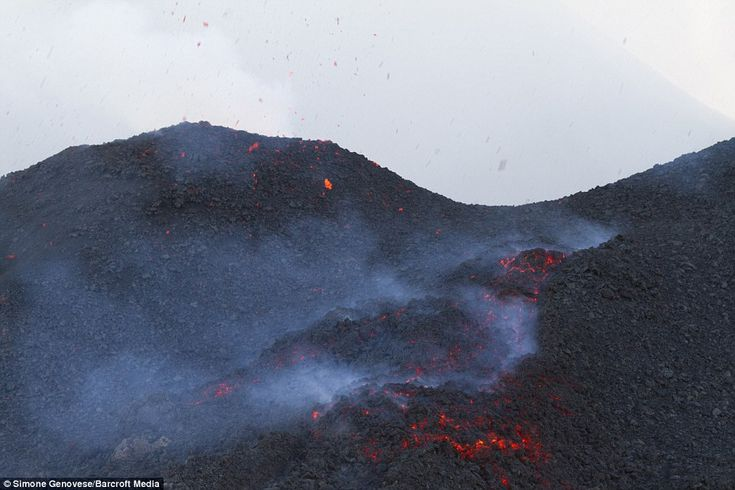The latest update from Volcano Discovery claims: 'There are no significant variations in activity have occurred during the past days. Small lava flows are being fed by the new fissure vent at the eastern base of the North East crater'