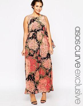 ASOS CURVE Maxi Dress In Floral Print