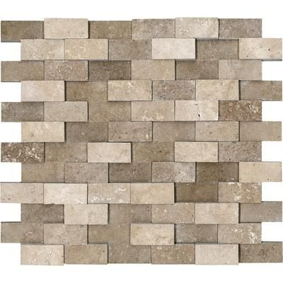 Anatolia - Honed Cubics Noce Travertine Mosaics - 1 Inch x 2 Inches - 76-057 - Home Depot Canada