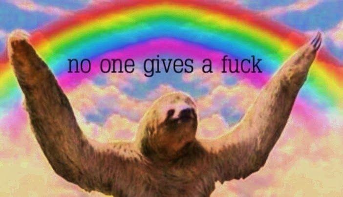 sloth meme rainbow