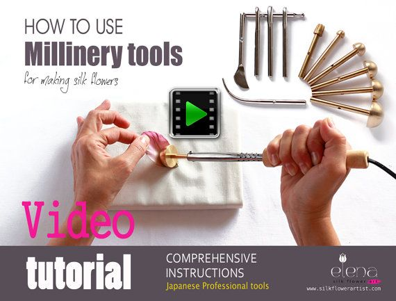 """The latest video tutorial """"How artistically use professional millinery tools"""" to make couture silk flowers silkflowerartist.com/index #millinery #judithm #hats"""