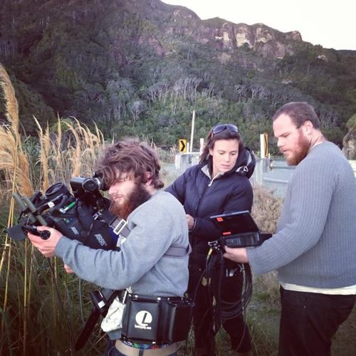 On location filming on the West Coast of New Zealand's South Island!!   For more photos check out www.facebook.com/candlelitpictures