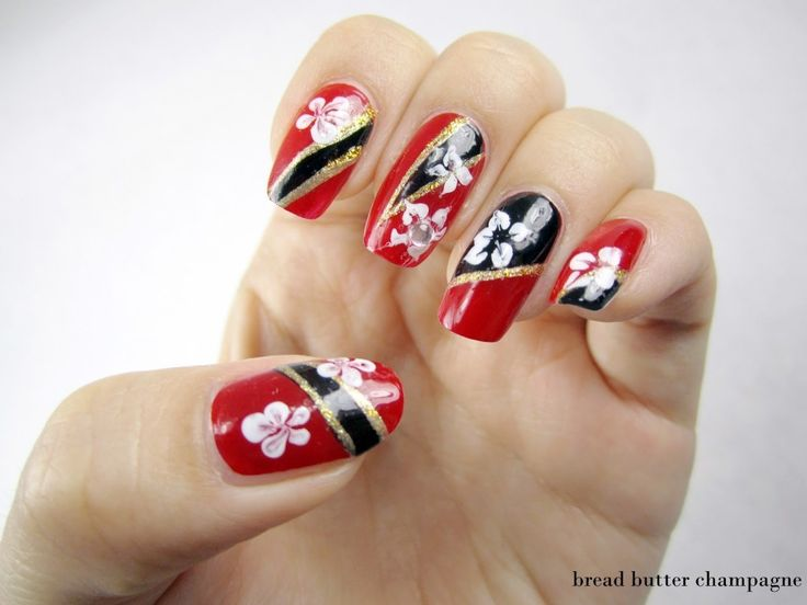Top 15 Nail Design For Happy Chinese New Year – New Famous Fashion Manicure - Homemade Ideas (4)