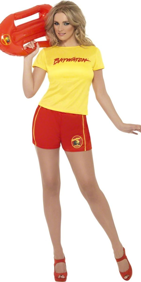 Baywatch Ladies Beach Costume So simple and didn't even think of it!