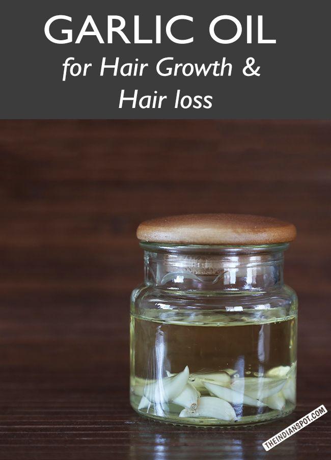 Garlic oil for hair growth