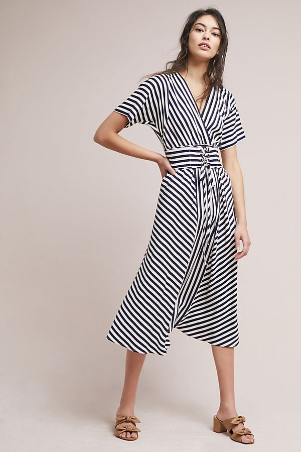 Slide View: 1: Tracy Reese Striped Corset Dress