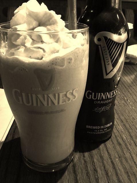 Guinness + Whiskey + Milk + Ice Cream = Irish Beer Shake