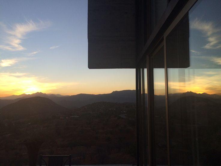 Framing a sunset