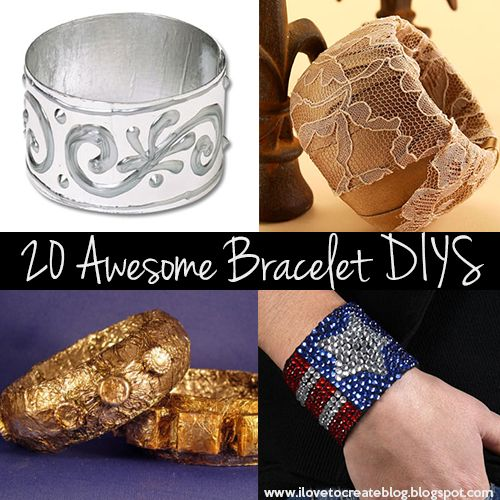 iLoveToCreate Blog: 20 Awesome Bracelet DIYs