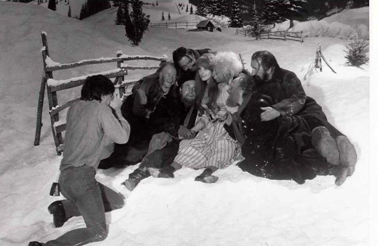 Roman Polanski taking a photo of The Fearless Vampire Killers cast