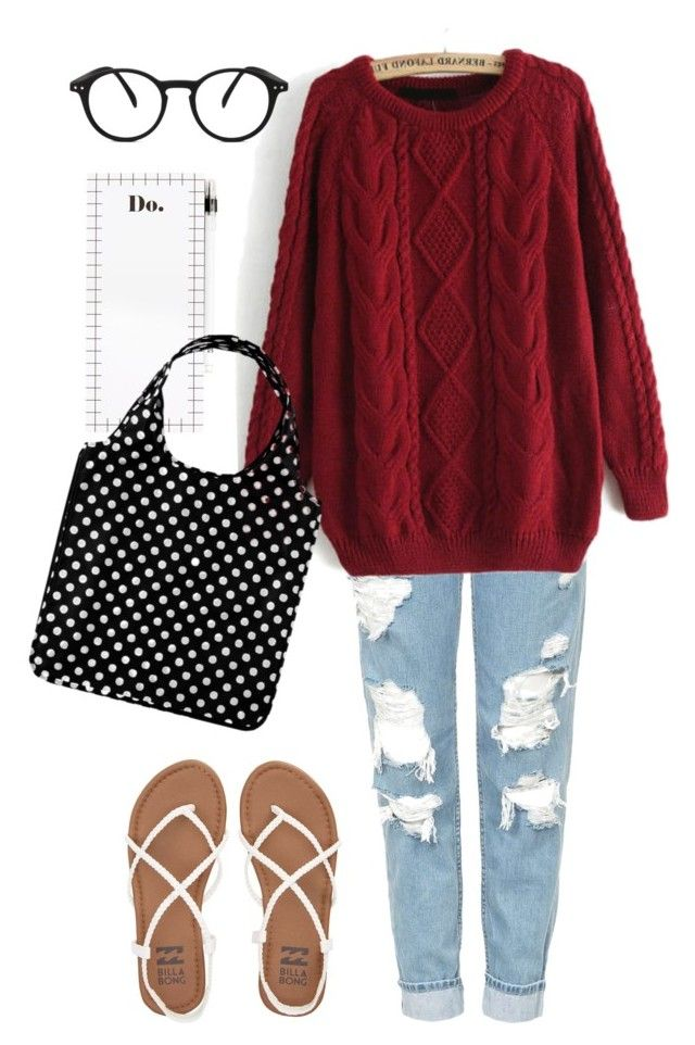 Errand Girl by timetravelingfashionistas on Polyvore featuring polyvore, fashion, style, Topshop, Billabong, See Concept, Kate Spade and clothing