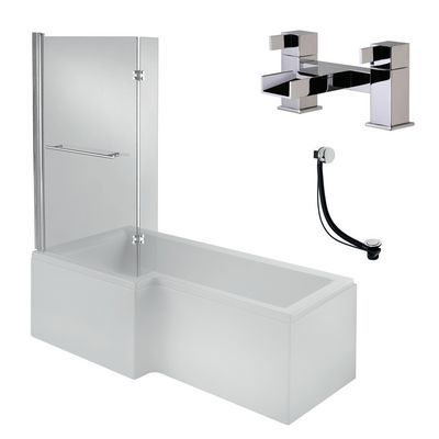 Buy Luna 1700mm Shower BathPanel Screen Waterfall Taps At Screwfix Bathrooms