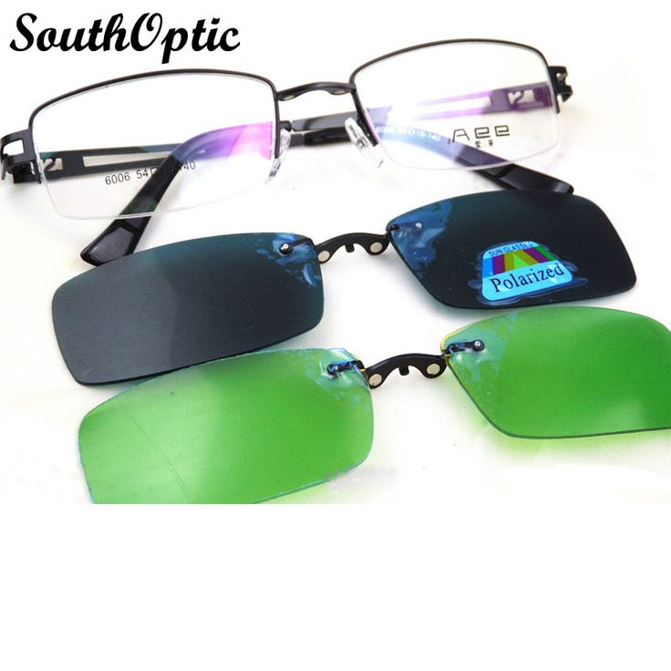 new arrival optical frame and clip on sets clip on sunglasses polarized driving night vision