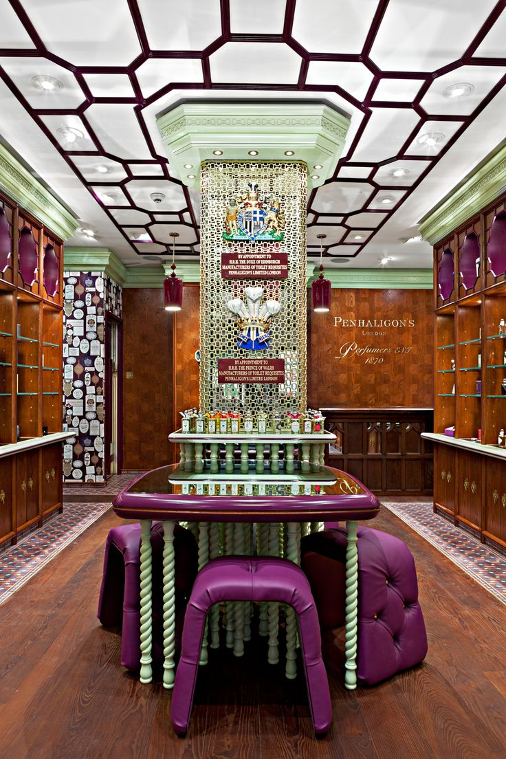 Penhaligon's, Regent Street. Redesigned by Christopher Jenner.
