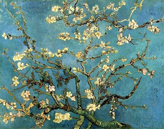 Vincent Van Gogh >> Branches with Almond Blossom [February 1