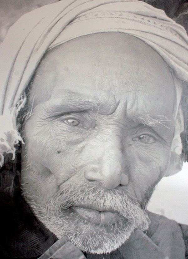 """By Paul Cadden. Graphite on paper - not a photo. He is a """"hyperrealist"""" - making drawings and paintings. Check out his other works http://paulcadden.com/"""