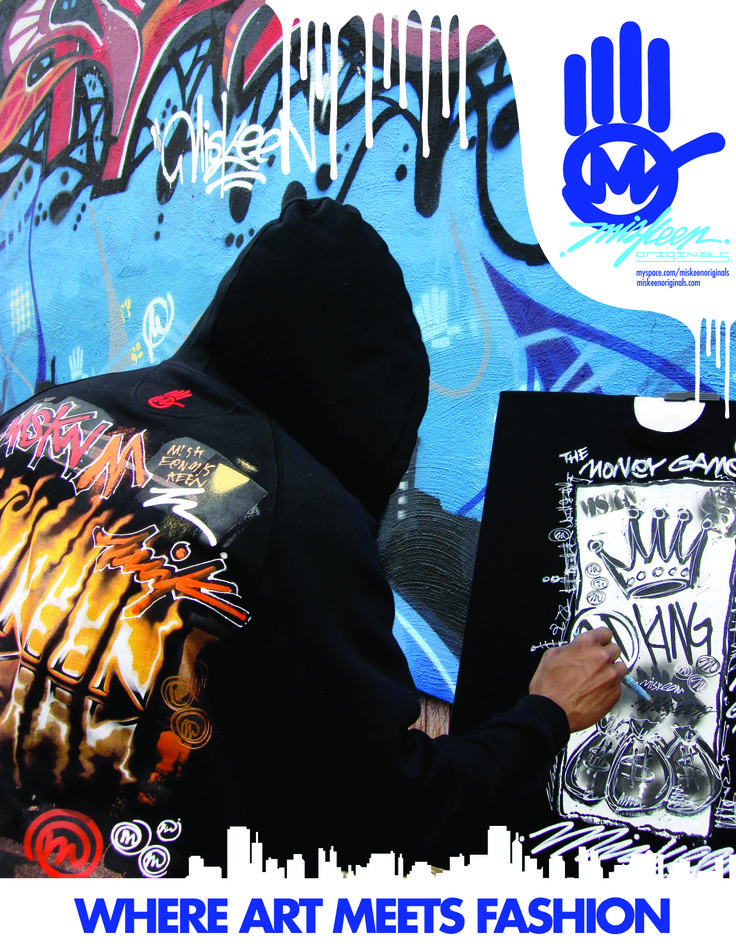 Miskeen Originals handpainted Tshirt