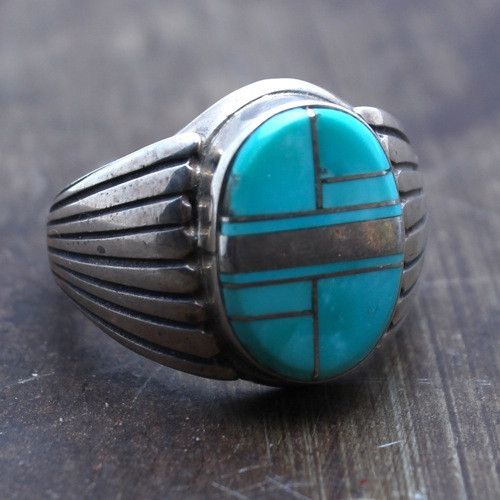 Antique Turquoise And Silver Rings