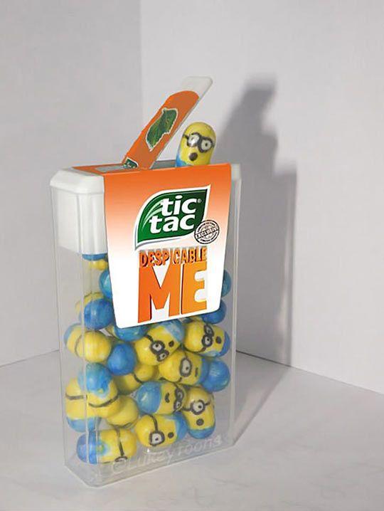 Despicable Me Minion Tic-Tac DIY