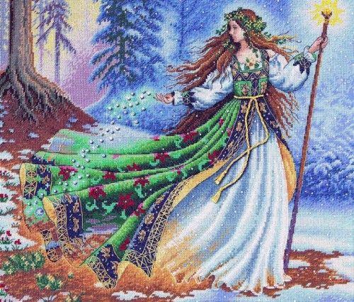 Вышивка Лесная колдунья (Dimensions)