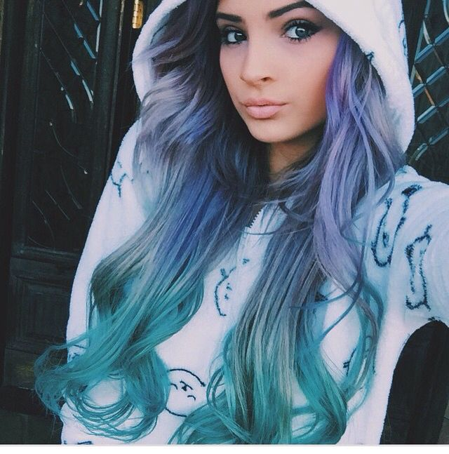 Carrington Durhams in the pic GALAXY Purple Blue Ombre Hair Color Set of 12