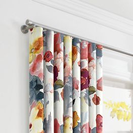 Looking for the best bold fabric for your next drapery set? Try the Coral Pink Watercolor Ripplefold Curtains from Loom Decor!