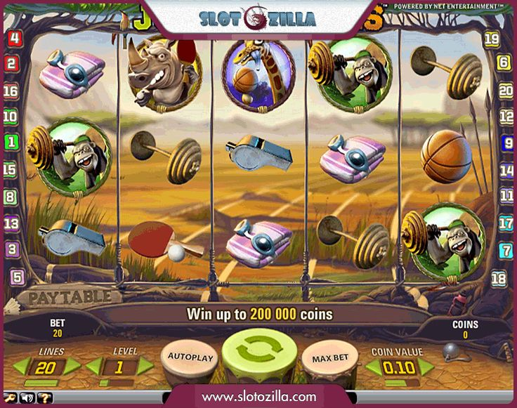 Imagine yourself gambling in the middle of a rainforest   How it will come? For #NetEnt nothing is impossible! You are to participate in the quite unusual Olympic Games in the company of a boxing lion, a tennis-playing rhino and a hippo swimming champion.  ★Listen, the max jackpot is worth 8000 coins★  PLAY HERE http://www.slotozilla.com/free-slots/jungle-games