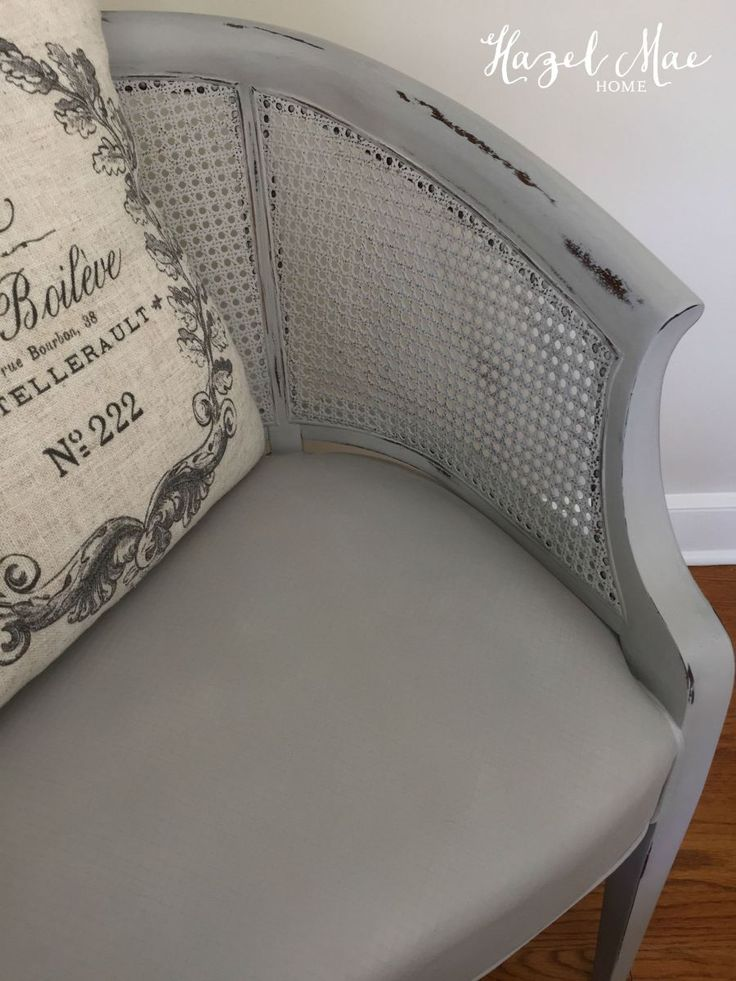 Barrel Back Cane Chair in Annie Sloan Paris Grey  by Hazel Mae Home 25 best Pretzel Chairs images on Pinterest   Cane furniture  . Rattan Chair Repairs Brisbane. Home Design Ideas