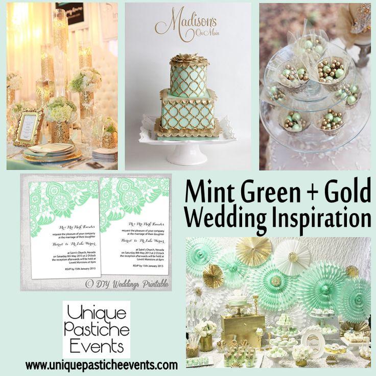 Mint Green + Gold #Wedding {Inspiration}