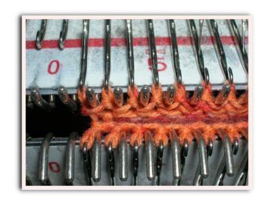 Stichwort: Socken auf der Strickmaschine