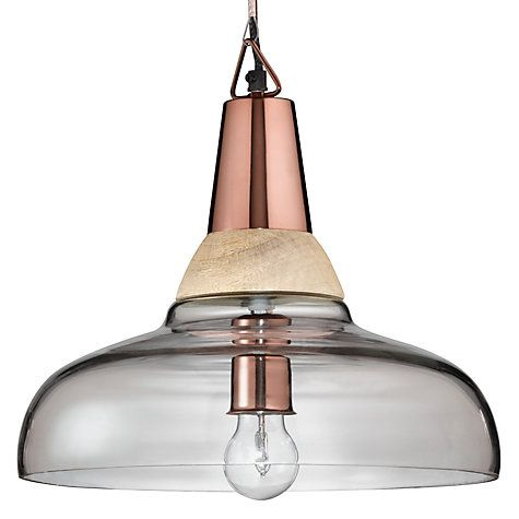 Buy John Lewis Nalia Pendant Light Clear Wood Online At Johnlewis Dining Room