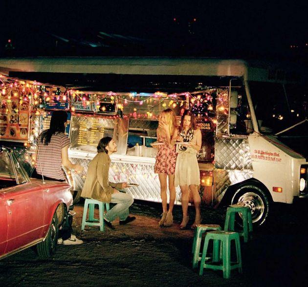 screw fine dining: Food Vans Ideas, Late Night, Cafe Trucks, Street Food Trucks, Christmas Lights, Foodtruck Inspiration, Pink Lights, Summer Night, Girls Talk