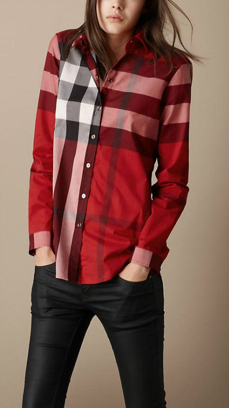 Love Burberry Shirt! Perfect for Fall! $79 Only!!OMG I'm gonna love this site