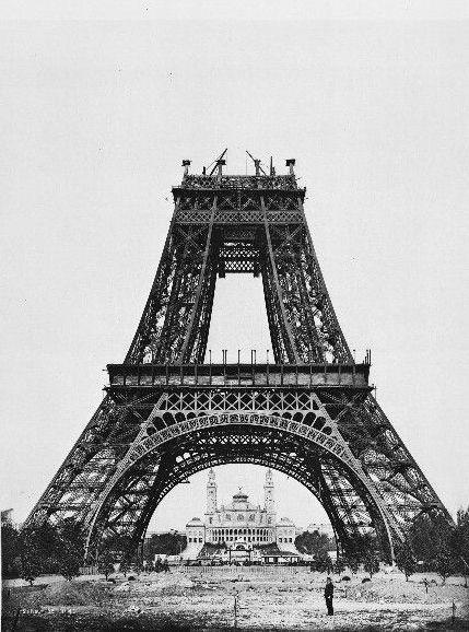 Eiffel Tower under construction (1889)