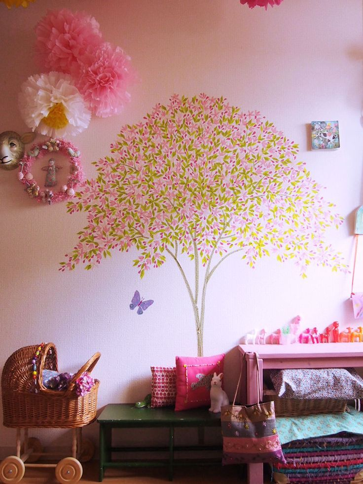 wall art ideas that define uniqueness tree bedroombedroom kidsdiy bedroomkids roomsgirls - Diy Bedroom Decor Ideas