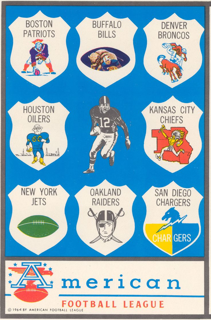 From the archives: 1960 AFL Team Logos.... vintage