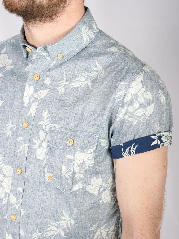Printed Denim shirt for men