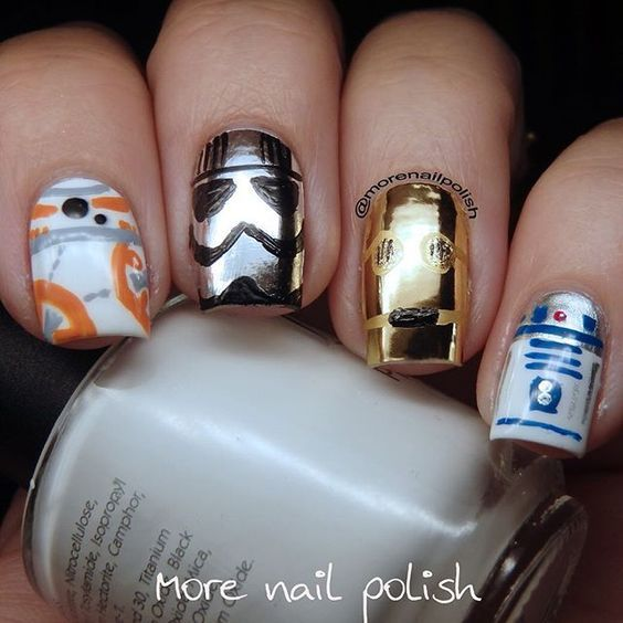 May the fourth be with you! #MayFourth #StarWarsDay Source || Pinterest #nails #nailart #StarWars