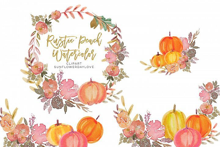 Thanksgiving Pumpkin Png Clipart Peach Pumpkin 345370 Illustrations Design Bundles Clip Art Book Cover Invitation Pumpkin Png