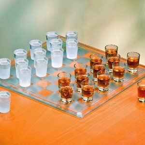 checkers w/ shot glasses. HELL YES
