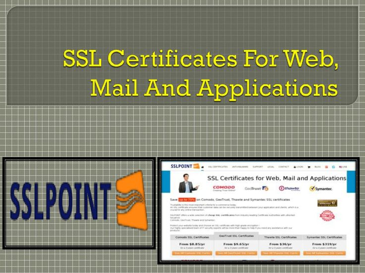SSLPOINT is the leading company providing wide range of SSL certificates includes wildcard SSL, multi domain SSL, and Multi domain SSL certificates at best price. https://www.sslpoint.com/