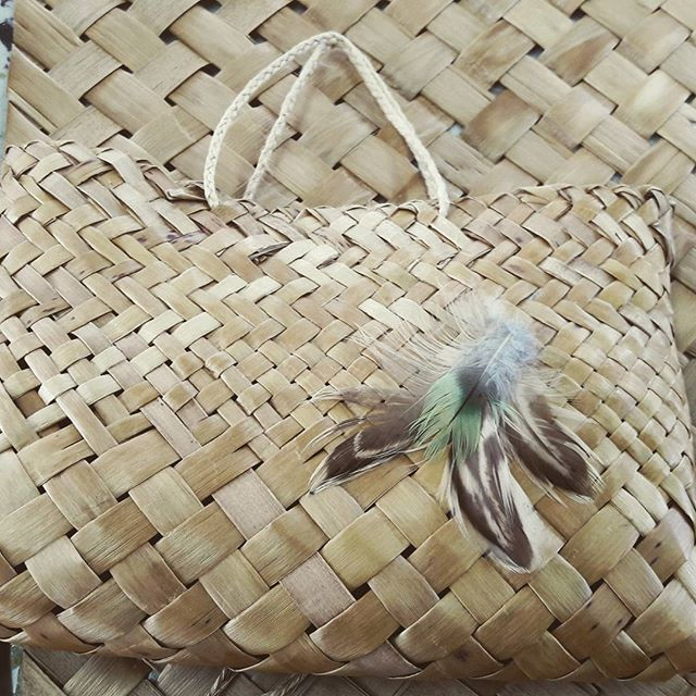 A flax Kete, or basket made at our Traditional Flax Weaving for beginners class. #vintagegcraftschool
